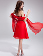 A-Line/Princess Strapless Knee-Length Chiffon Homecoming Dress With Ruffle (022009791)