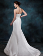 Trumpet/Mermaid Sweetheart Court Train Satin Wedding Dress With Ruffle Beading Appliques Lace (002001161)