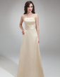 Sheath/Column Strapless Floor-Length Satin Bridesmaid Dress (007001827)