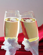 Pearl White Lead-free Glass Toasting Flutes (Set Of 2) (126033857)