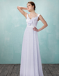 A-Line/Princess Sweetheart Floor-Length Chiffon Wedding Dress With Ruffle Flower(s) (002011982)