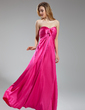 Empire Sweetheart Floor-Length Charmeuse Bridesmaid Dress With Ruffle (007019633)