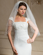 Two-tier Elbow Bridal Veils With Cut Edge (006024465)