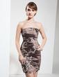 Wąska Bez ramiączek Krótka/Mini Taffeta Suknia dla Mamy Panny Młodej Z Haftowana Perełki (008006029)