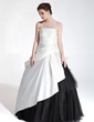 Ball-Gown Sweetheart Floor-Length Charmeuse Tulle Quinceanera Dress With Cascading Ruffles (021020776)