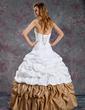 Balowa Kochanie Do Podłogi Taffeta Lace Suknia na Uroczystość Quinceanera Z Żabot Perełki (021003114)