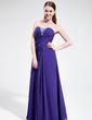 A-Line/Princess Sweetheart Floor-Length Chiffon Evening Dress With Ruffle Beading (017025594)