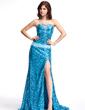 Çan/Prenses Kalp Kesimli Kuyruklu Sequined Gece Elbisesi (017022816)