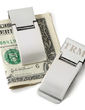 Personalized Simple Stainless Steel Money Clips (051028994)