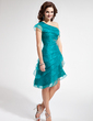 A-Line/Princess One-Shoulder Asymmetrical Organza Homecoming Dress With Ruffle Beading (022010313)