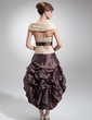 A-Line/Princess Off-the-Shoulder Asymmetrical Taffeta Homecoming Dress With Ruffle Sash Beading (022009147)