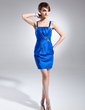 Sheath/Column Sweetheart Short/Mini Taffeta Cocktail Dress With Ruffle Beading (016015663)