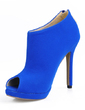 Suede Stiletto Heel Peep Toe Ankle Boots shoes (088017116)