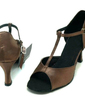 Women's Satin Sandals Latin Ballroom With T-Strap Dance Shoes (053008214)