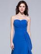 A-Line/Princess Sweetheart Floor-Length Chiffon Bridesmaid Dress With Ruffle (007037199)