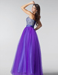Ball-Gown Sweetheart Floor-Length Tulle Prom Dress With Ruffle Beading Sequins (018004898)
