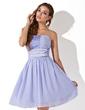 Empire Strapless Knee-Length Chiffon Homecoming Dress With Ruffle Beading (022020959)