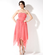 Empire Sweetheart Asymmetrical Chiffon Homecoming Dress With Ruffle Beading (022010544)