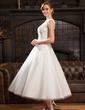 Corte A/Princesa Escote redondo Hasta la tibia Tul Encaje Vestido de novia con Bordado Lentejuelas (002054370)