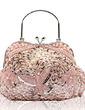 Gorgeous Satin With Beading/Sequin Wristlets/Fashion Handbags (012016140)