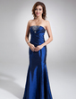 Trumpet/Mermaid Strapless Floor-Length Taffeta Bridesmaid Dress With Ruffle Beading (007001061)