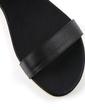 Leatherette Flat Heel Sandals Flats With Zipper Chain (087026607)