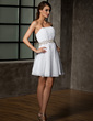 A-Line/Princess Sweetheart Short/Mini Chiffon Homecoming Dress With Ruffle Beading (022021017)