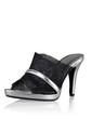 Leatherette Cone Heel Sandals Pumps Platform Peep Toe shoes (087028459)