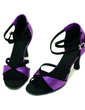Women's Satin Heels Sandals Latin Ballroom Dance Shoes (053009735)