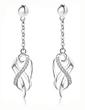 Elegant Sterling Silver With Rhinestone Women's Earrings (011037033)