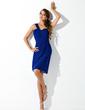 Kılıf Tek-Omuzlu Diz Hizası Chiffon Mezunlar Gecesi Elbisesi (022010850)