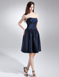 A-Line/Princess Sweetheart Knee-Length Taffeta Bridesmaid Dress With Ruffle (022015701)