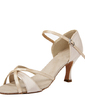 Women's Satin Heels Sandals Latin With Buckle Dance Shoes (053054524)