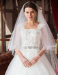 One-tier Chapel Bridal Veils With Cut Edge (006024486)