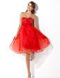 Imperialna Kochanie Do Kolan Organza Satin Sukienka na Zjazd Absolwentów (022009882)