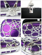 Gorgeous Silk/Metal With Rhinestone Clutches (012028134)
