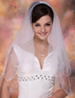 Two-tier Elbow Bridal Veils With Scalloped Edge (006020360)