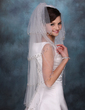 Four-tier Fingertip Bridal Veils With Beaded Edge (006020351)