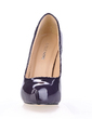 Patent Leather Stiletto Heel Pumps Platform Closed Toe shoes (085020561)