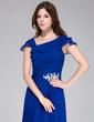 A-Line/Princess Floor-Length Chiffon Evening Dress With Appliques Lace Cascading Ruffles (017028328)