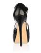 Leatherette Stiletto Heel Sandals Platform Peep Toe shoes (085017469)