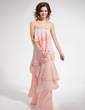 A-Line/Princess Strapless Floor-Length Chiffon Prom Dress With Beading Cascading Ruffles (018019423)