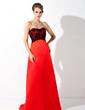 Imperialna Kochanie Tren Dotykający ziemi Charmeuse Lace Suknia dla Druhny (007004299)