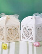 Heart Cut–outs Cuboid Favor Boxes With Ribbons (Set of 12) (050032982)