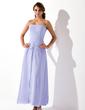 A-formet/Prinsesse Sweetheart Ankel-lengde Chiffong Brudepikekjole med Frynse Perlebesydd (007001823)