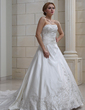 Ball-Gown Sweetheart Royal Train Satin Wedding Dress With Embroidered Beading (002004478)