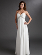 Imperialna Kochanie Do Podłogi Chiffon Suknia Ślubna Z Żabot Perełki (002011702)