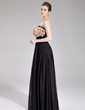 Empire Strapless Floor-Length Chiffon Evening Dress With Beading Flower(s) (017019764)