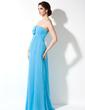 Empire Sweetheart Floor-Length Chiffon Maternity Bridesmaid Dress With Cascading Ruffles (045022462)