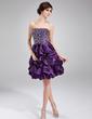 Çan/Prenses Kalp Kesimli Diz Hizası Taffeta Mezunlar Gecesi Elbisesi Ile Büzgü Boncuklama (022011224)